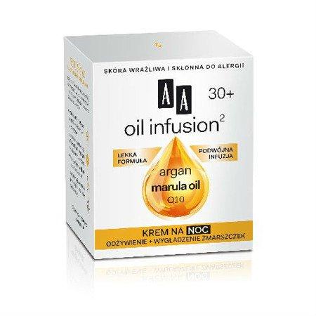 AA - Oil Infusion2 30+ - KREM odżywczy i wygładzający zmarszczki na NOC, 50 ml.