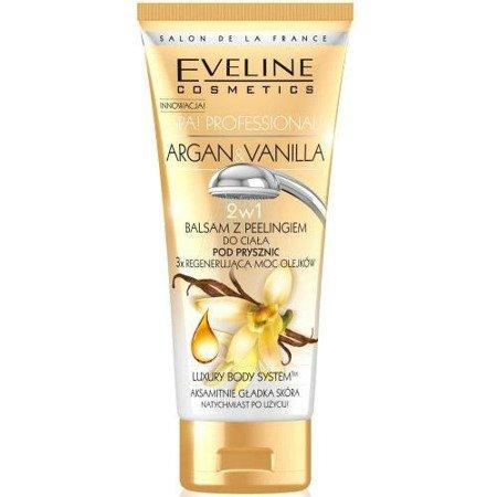 Eveline - Argan & Vanilla - BALSAM z peelingiem pod prysznic do ciała, regeneruję skórę, 200 ml.