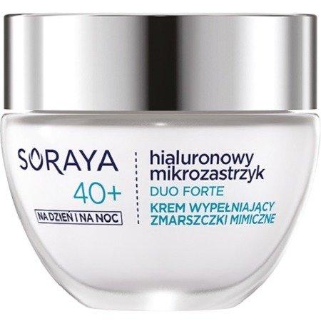 Soraya Hialuronowy Mikrozastrzyk DOU FORTE, KREM wypełniający zmarszczki mimiczne 40+, 50 ml.