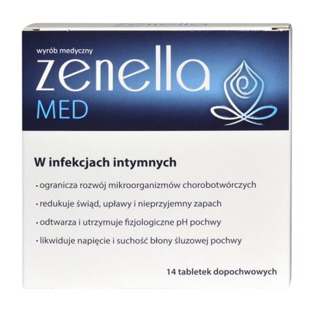 Zenella MED - Na infekcje intymne, 14 tabletek dopochwowych.