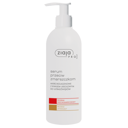 Ziaja Pro – SERUM przeciw zmarszczkom mikro-kolagenowe z kwasem ursolowym, 270 ml.