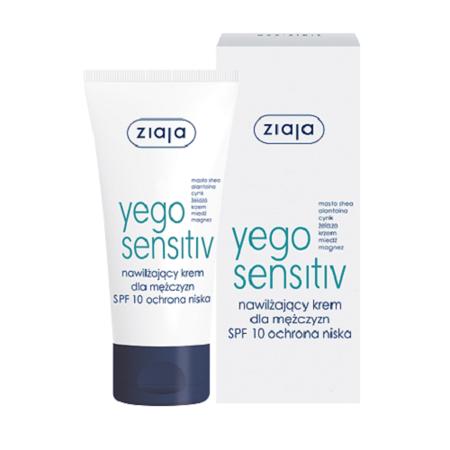 Ziaja - Yego Sensitiv - KREM nawilżający dla mężczyzn, 50 ml.