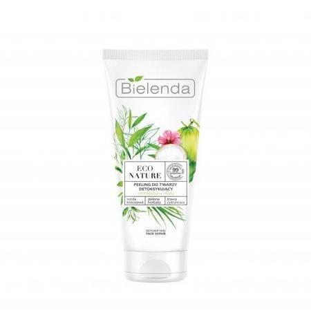 ECO NATURE - Woda kokosowa + Zielona Herbata + Trawa Cytrynowa - peeling do twarzy detoksykujący, 150 g