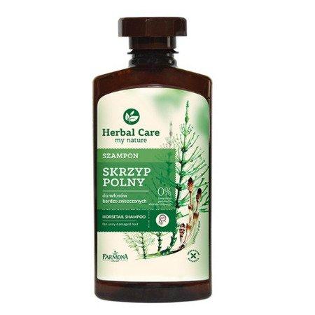 Herbal Care - szampon ze skrzypem polnym do włosów słabych i wypadających, 330 ml.
