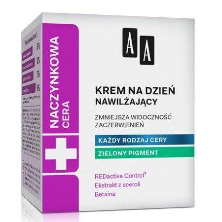 AA - Cera Naczynkowa - KREM nawilżający na dzień 50 ml. Najlepszy na zaczerwienienia i pajączki.