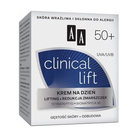 AA - Clinical Lift 50+ - KREM redukujący zmarszczki na DZIEŃ, 50 ml.