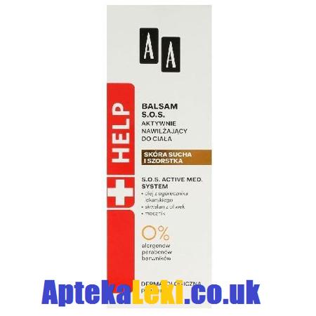 AA Help Balsam S.O.S. aktywnie nawilżający do ciała, 300 ml.