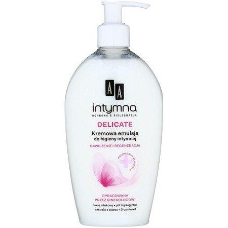 AA - Intymna - EMULSJA/PŁYN do higieny intymnej, 300 ml. Delicate