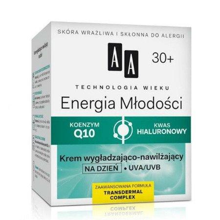 AA - Technologia Wieku, Energia młodości 30+ - KREM nawilżająco-wygładzający na DZIEŃ, 50 ml.