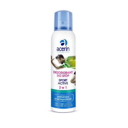 Acerin Sport Active, dezodorant do stóp 2 w 1, 150 ml.