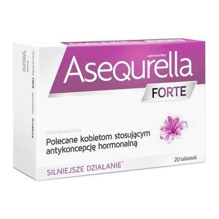 Asequrella FORTE, 20 tabletek.