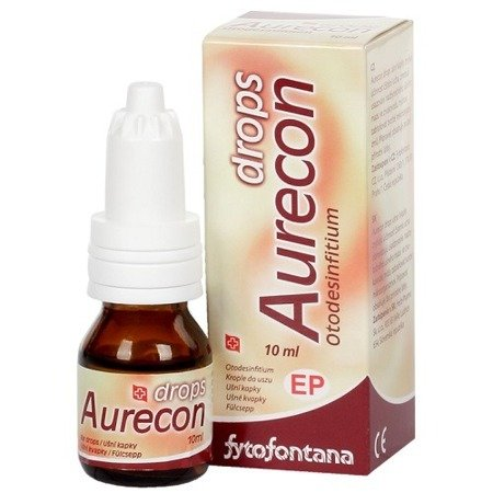 Aurecon Drops - KROPLE do uszy, 10 ml.