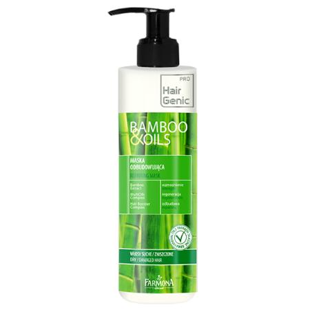 Bamboo & Oils - MASKA odbudowująca do włosów, 250 ml.