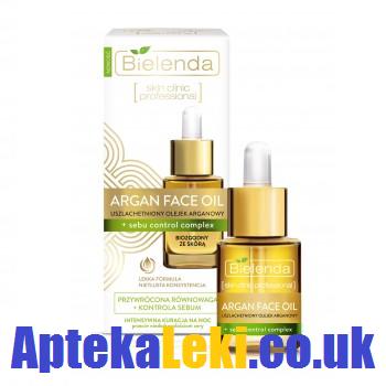 Bielenda - Argan Face Oil - OLEJEK uszlachetniony silnie redukujący wydzielanie sebum, na NOC, 15 ml.