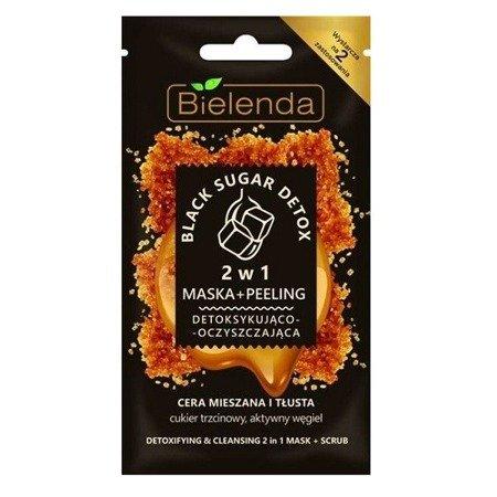 Bielenda Black Sugar Detox, MASECZKA detoksykująco-oczyszczająca, 8 g.