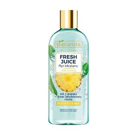 Bielenda Fresh Juice, PŁYN micelarny, ananasowy, 500 ml.
