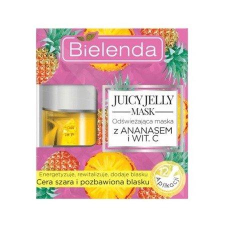 Bielenda Juicy Jelly, MASKA odświeżająca z Ananasem, 50 g.
