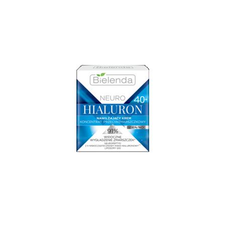 Bielenda - NEURO HIALURON - Nawilżający krem – koncentrat przeciwzmarszczkowy 40+, dzień/noc, 50 ml.