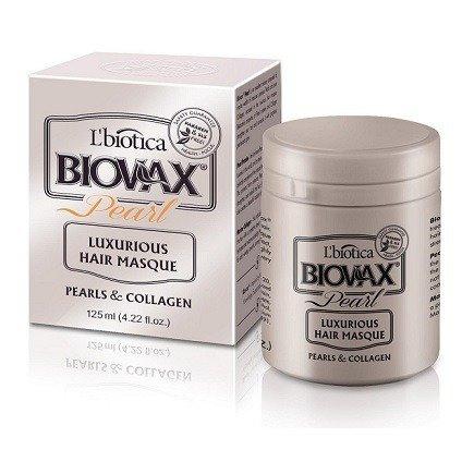 Biovax Glamour PEARL - MASECZKA intensywnie regenerująca do włosów z perłami i kolagenem, 125 ml.