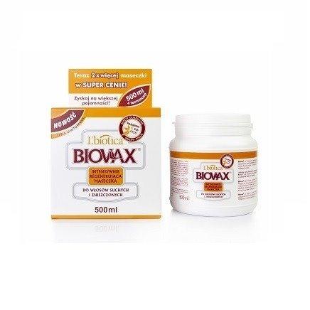Biovax - MASKA intensywnie regenerująca do włosów suchych i zniszczonych, opakowanie 500 ml.(maseczka)