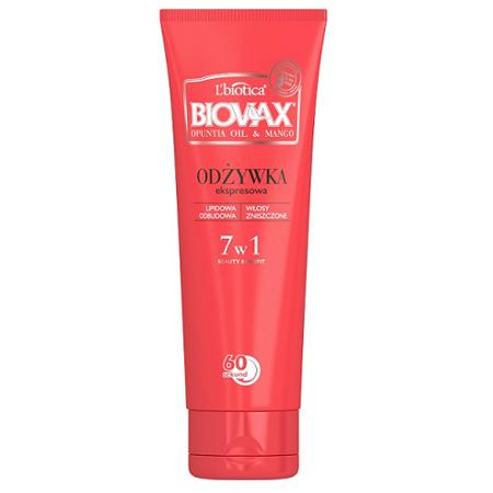 Biovax - Opuntia Oil & Mango - ODŻYWKA ekspresowa 7w1, 200 ml.