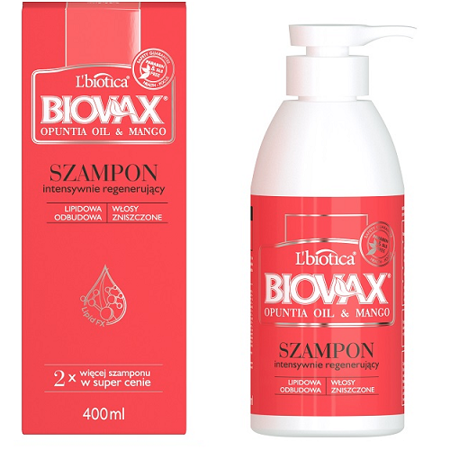 Biovax - Opuntia Oil & Mango - SZAMPON, 400 ml.