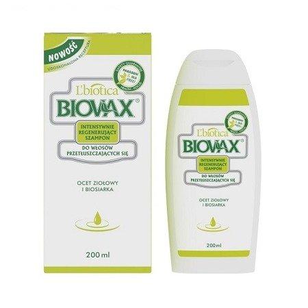 Biovax - SZAMPON intensywnie regenerująca do włosów przetłuszczających się, opakowanie 200 ml.