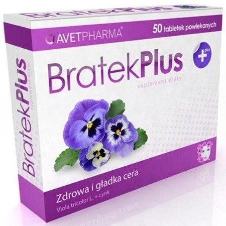 Bratek Plus + Cynk, 50 tabletek.