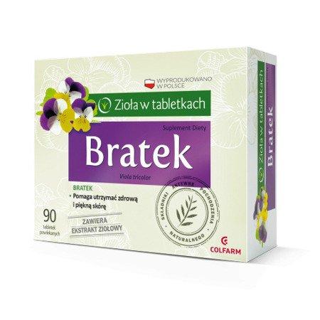 Bratek - Wyciąg z Fiołka trójbarwnego, 90 tabletek.(Colfarm)