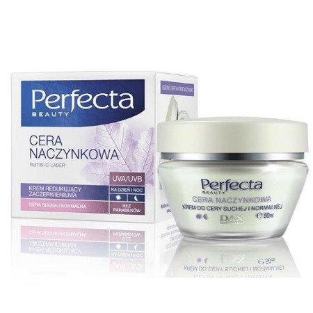 DAX - Perfecta, Cera Naczynkowa - KREM redukujący zaczerwienienia do cery suchej i normalnej na DZIEŃ i NOC, 50 ml.
