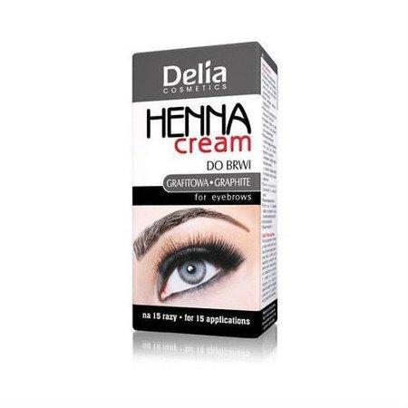 Delia - HENNA cream do brwi - GRAFITOWA, 15+15 ml.