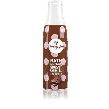 Delia, Kremowy Żel do kąpieli i pod prysznic - mleczna czekolada, 400 ml.