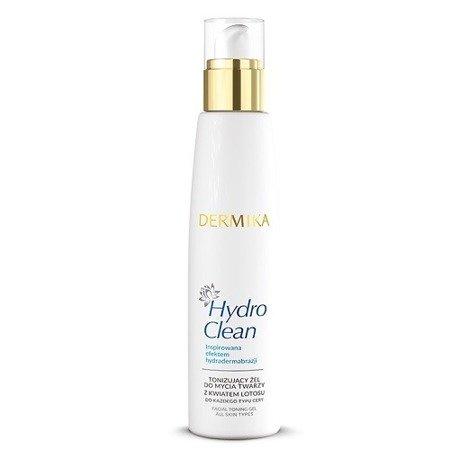 Dermika Hydro Clean, Tonizujący ŻEL do mycia twarzy, 200 ml.