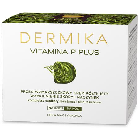 Dermika Vitamina P Plus, KREM półtłusty, 50 ml.