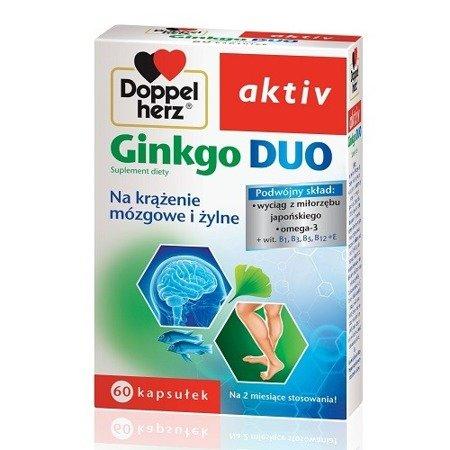 Doppelherz Aktiv - Ginkgo DUO, 60 kapsułek.