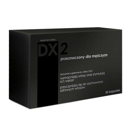 Dx2 - Wzmacnia włosy, zapobiega ich wypadaniu, 30 kapsułek.