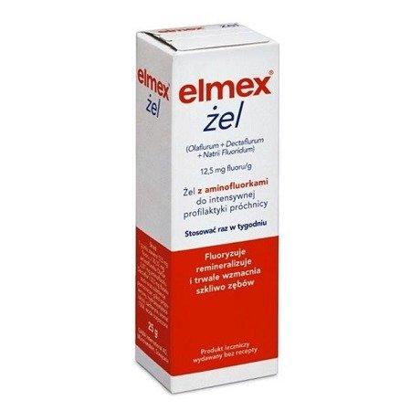 Elmex - ŻEL do fluoryzacji zębów u dzieci od 6 roku życia i dorosłych, 25 g.