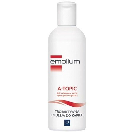 Emolium A-topic - Trójaktywna emulsja do kąpieli, 200 ml.