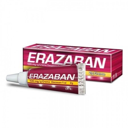 Erazaban 10% - KREM przeciw wirusowy na opryszczkę wargową, 2 g.