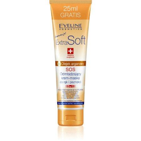 Eveline - ExtraSoft SOS - KREM/MASKA do rąk i paznokci 5w1, 100 ml.