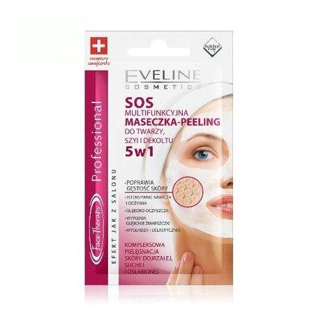Eveline Face Therapy Professional - MASECZKA-PEELING do twarzy, szyi i dekoltu SOS 5w1, 7 ml.