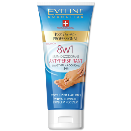 Eveline – Foot Therapy PROFESSIONAL – KREM-Dezodorant Antyperspiarnt do stóp 8w1, 100 ml.