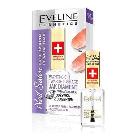 Eveline - Nail Salon Professional Clinical Care- Wzmacniająca ODŻYWKA z diamentem, 12 ml.
