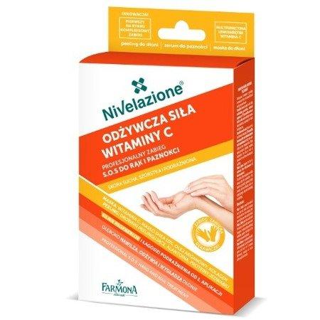 Farmona Nivelazione, ZABIEG do rąk i paznokci z witaminą C, 6+2+6 g.
