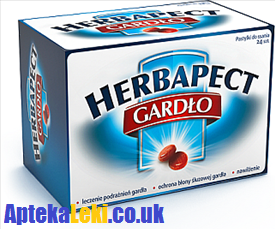 Herbapect Gardło, 24 tabletek do ssania.
