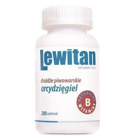 Lewitan Ao z Arcydzięglem - Drożdże piwowarskie, 200 tabletek.
