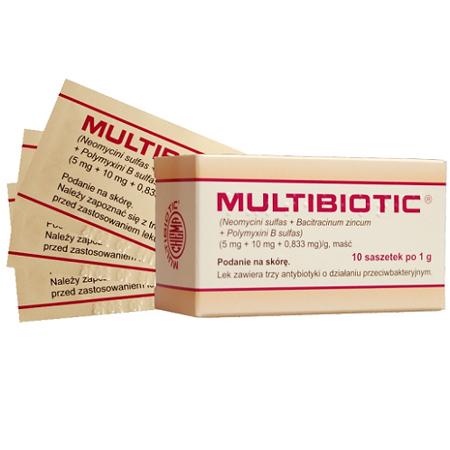 Multibiotic - MAŚĆ antybiotykowa, 10 saszetek 1 g.