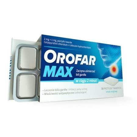 Orofar Max, 30 pastylek do ssania.