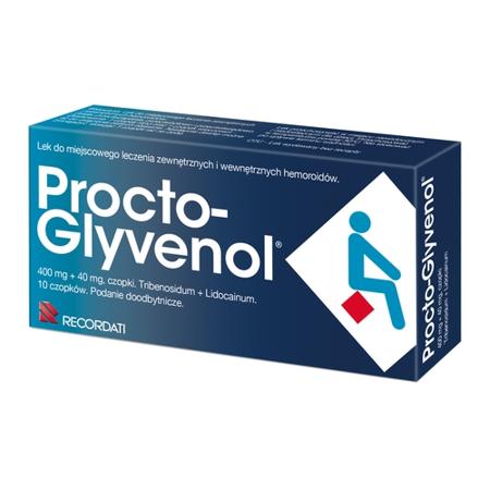 Procto-Glyvenol - Czopki przeciw hemoroidom, 10 sztuk.
