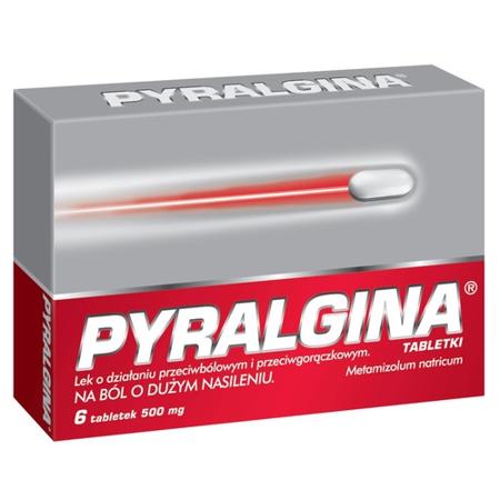 Pyralgina 500 mg. 6 tabletek.